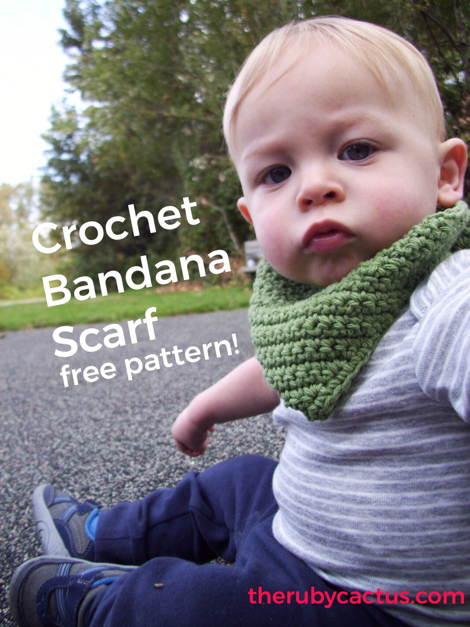 Crochet Baby Bandana Scarf – FREE PATTERN – the ruby cactus